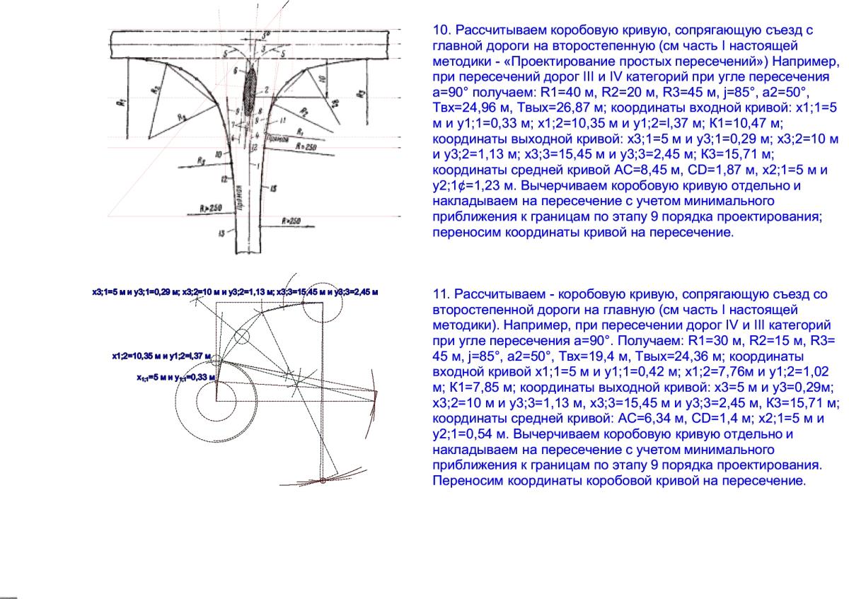 Расчёт коробовой кривой
